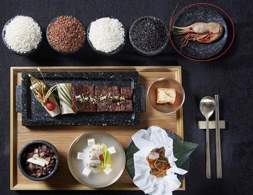 韩美总统晚餐吃