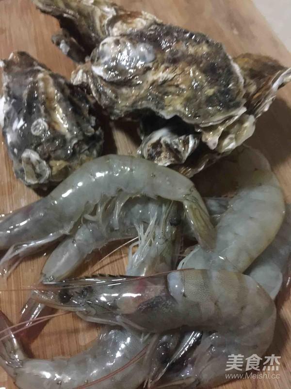 锡纸烤虾生蚝